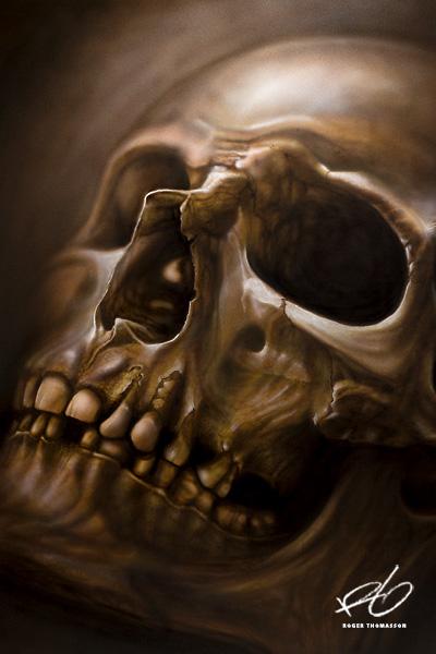 Dödskalle Airbrush Skull